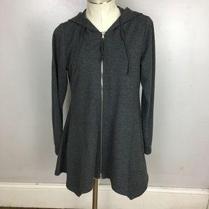 LOGO Lori Goldstein Asymmetrical Hooded Jacket XS